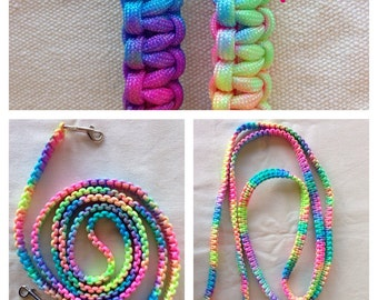 Custom Colorful Cobra Braid Horse Reins
