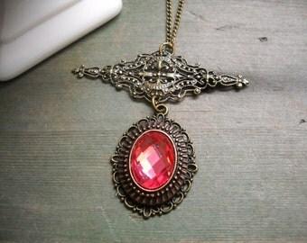 Forever Pink Pendant/Edwardian/Victorian/Wedding