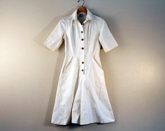 Fabulous culotte dress - heavy weight cotton - size small petite