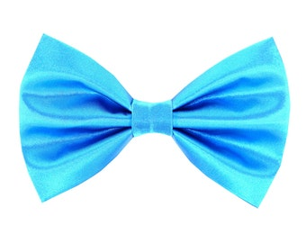 Teal Blue Satin Wedding Dog Bow Tie/ Formal Dog Bow: Teal Satin