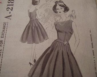 Vintage 1960's Spadea A-2181 Suzy Perette Dress Sewing Pattern, Size 12, Bust 35