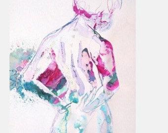 Watercolor Figure 1 -- Archival Print