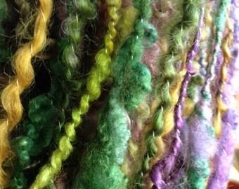 Designer Lock Spun Yarn Plyed With Silk
