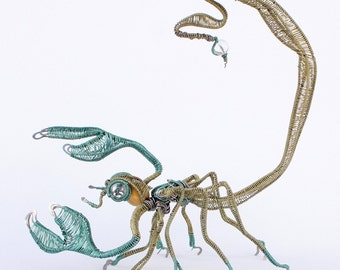 scorpion wire sculpture · scorpion decorative art · standing sculpture · wire art · wire arachnida · decorative scorpion · scorpion art
