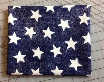 HALF YARD cut of Michael Miller Star Struck - Blue Background with white stars - CX5923-NAVY-D 100% cotton