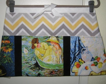 Chevron Art Kitchen Vendor Apron Extra Large 27""
