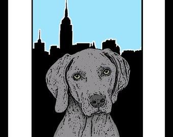 Pop Art Pet Portrait NYC Skyline 8 x 10