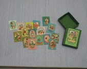 Gaël Miniature vintage Froy & Dind cards game Dollhouse Miniature child game Accessory toy, Handmade