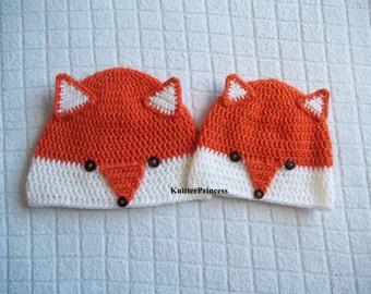 Fox hat, baby fox hat, crochet fox hat, baby hat, kids hat, toddler hat, baby beanie, new born gift, gift for children, baby fashion