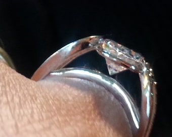 Vintage Oval Cut Cz Engagement Ring