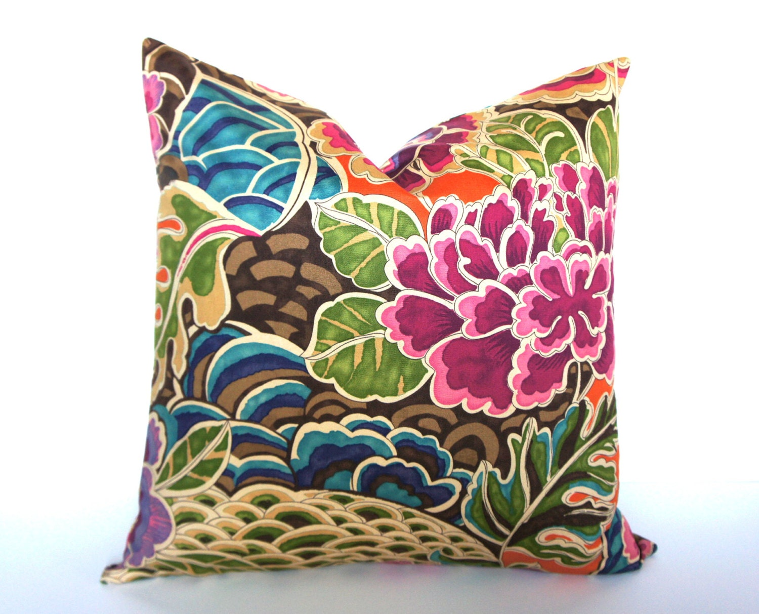 Modern Floral Pillows : Modern Floral Pillow Cover Choice of Size Colorful Pillow