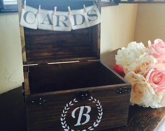 Medium Monogram Wedding Card Holder