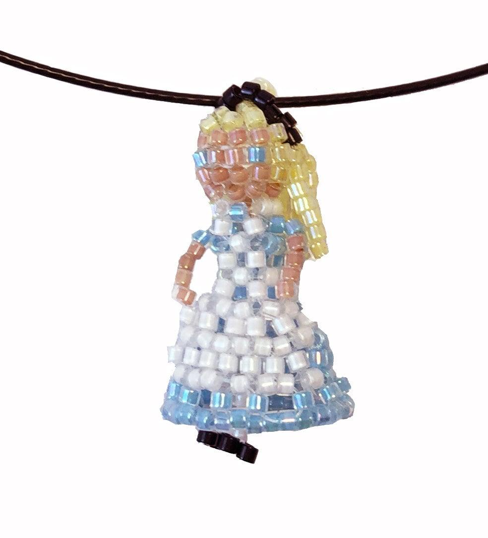 Princess Beads: Princess Beaded Doll Necklace Seed Bead Doll Seed Bead