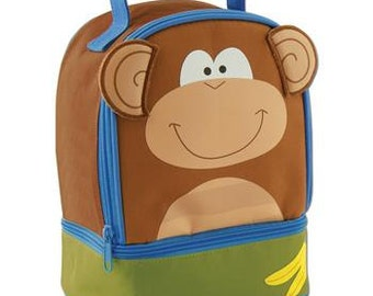 Personalized Stephen Joseph Monkey Lunch Box