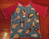 Size 5 Tee, custom knit fabric. Villains! Villains! Villains!