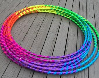"""BEST SELLER // Custom """"Rainbow Fade Away"""" Hoop"""