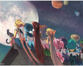 Sailor Moon Fan Art Illustration Print