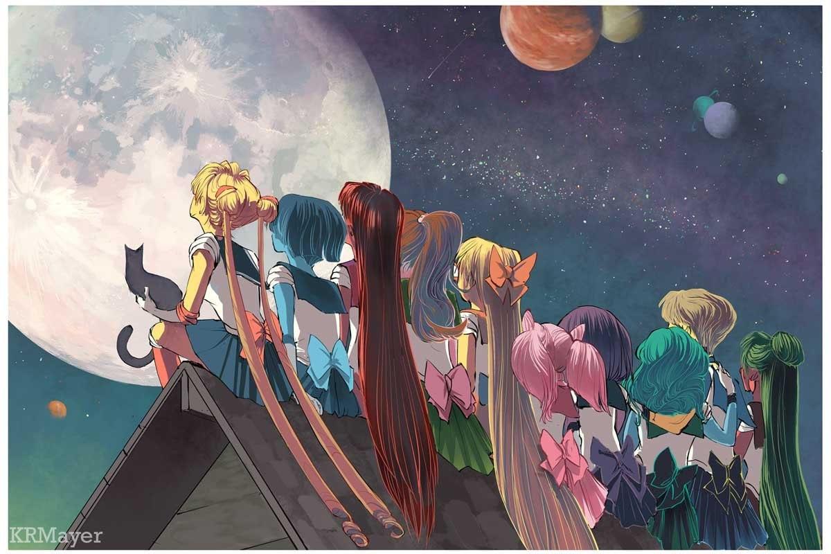 Sailor Moon Fan Art Illustration Print