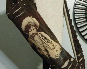 Jimi Hendrix Upcycled/Recycled Tshirt Yoga Mat Bag