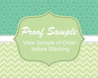 Request a Proof, Proof before Purchase, Proof Purchase - View a sample of your item before purchase