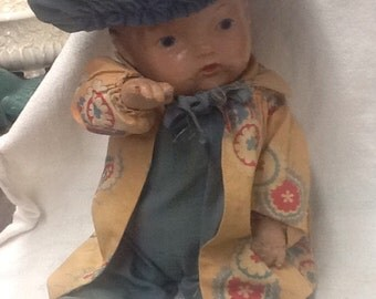 Adorable French Dressed Composition Doll