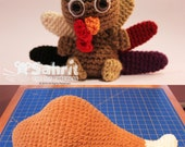 BUY ONE get one FREE Instant Download Pattern Turkey Drumstick and Tompkin Thanksgiving