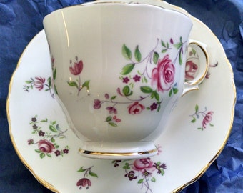 Fine Bone China Teacup and Saucer