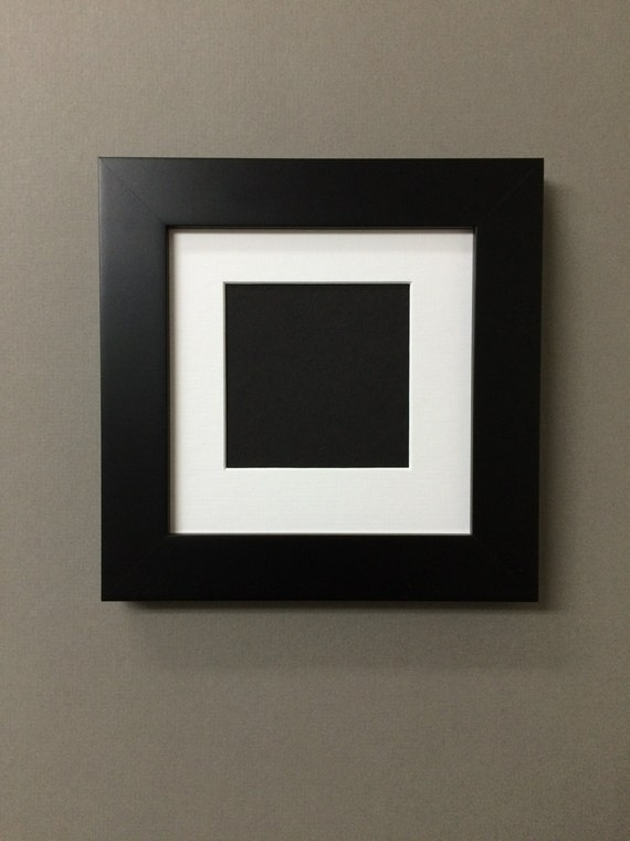 Square Black Picture Frame With Mat Over 30 Mat Colors To