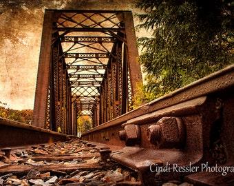 Railroad Bridge, Trestle Bridge, Fine Art Photography, Landscape Photography, Railroad Photography, Train Print, Trains, Locomotive
