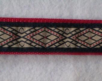 Red Diamonds Keychain Wristlet