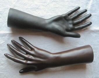 One Female Mannequin Hand Form - Ring, Watch, Bracelet, Jewelry Display - Choose Black OR Dark Skin Plastic Wrist Arm Hand Photo Prop Women