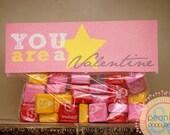 Valentine Printable PDF - Printable Party Supplies - Starburst Candy Valentines Printable