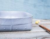 Ceramic Bowl, Gray Serving bowl, Fruit Bowl, Gray Decorative Bowl, Geometric Pattern Salad Bowl, Modern Pottery, Gray Ceramic Dinnerware