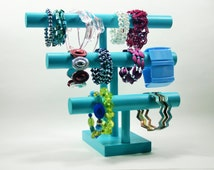 Jewelry Organizer - Bracelet Holder - 3 Tier Stand - Small Footprint! - 30 Color Choices!