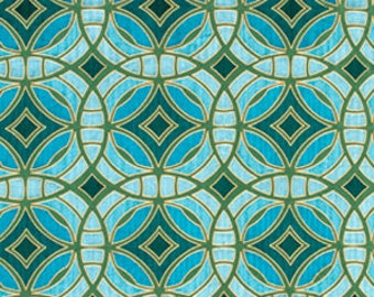 Geometric Teal Embroidered Upholstery Fabric - Aqua Silk Drapery Fabric - Custom Dark Teal Geometric Embroidered Pillow Covers with Piping