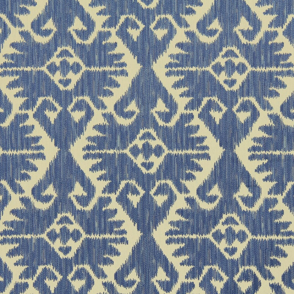 On sale blue ikat upholstery fabric by the yard for Fabric for sale by the yard