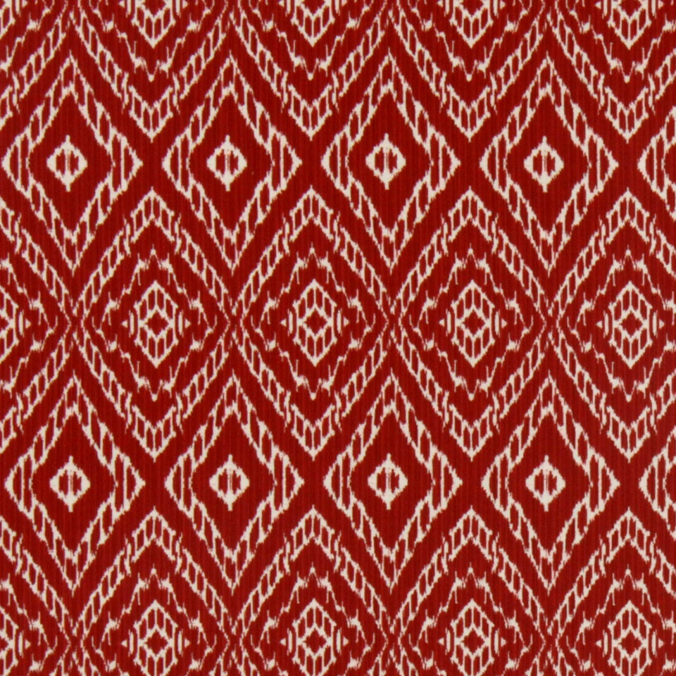 On sale red ikat upholstery fabric for furniture for Fabric material for sale