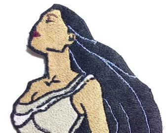 Iron On Patch Disney Inspired Fan Art Pocahontas