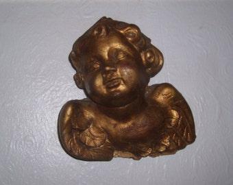 vintage cherub wall plaque