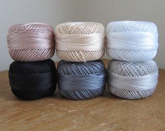 Neutrals Pearl Cotton Thead Set - 6 Color Finca Perle Cotton Thread Set