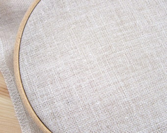 Cross Stitch Fabric 28 count Linen | Cashel Linen in Rustic Flax (28 ct) for Counted Cross Stitch, Embroidery, Needlework