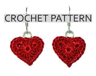 Crochet Pattern Earrings - Red Heart