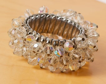 Vintage Crystal Cha Cha Expandable Bracelet