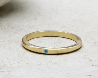 SUMMER SALE - Sapphire ring,gold ring,stacking ring,thin ring,stack ring,September birthstone ring,delicate ring,gemstone ring