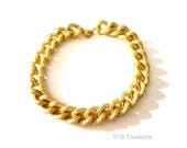 Gold Chain Bracelet-Textured Gold Chain Bracelet-Chunky Chain Bracelet-Gold Jewelry-Gold Chain-Silver Chain Bracelet-Jewelry Chain Bracelet