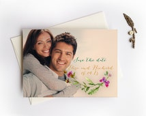 Spring save the date cottage chic garden wedding save the date cards
