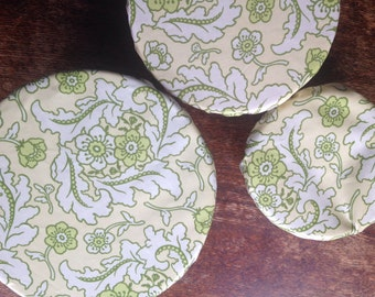 Reusable Bowl Covers Set of Three earth friendly  gift  floral