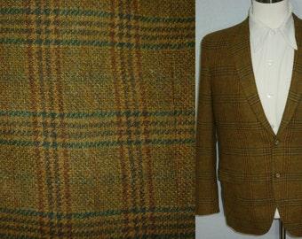 Vintage 1960s Mens Tweed Sport Coat / 39 - 40 / 1960s Tweed Sport Coat / 1960s Sport Coat / 1960s Tweed Jacket / Tweed Jacket / Plaid / M