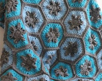 Crochet Hexagon Baby Blanket or Lap Blanket