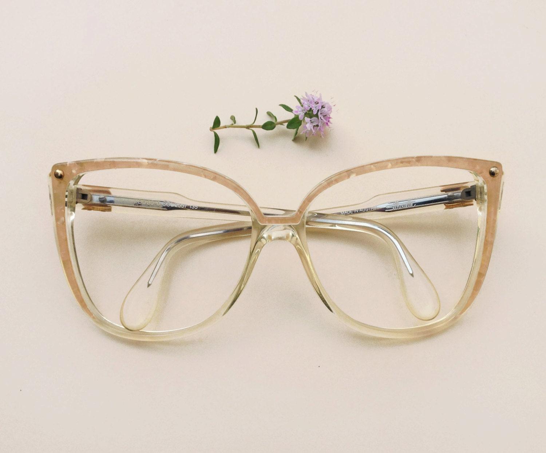 Large Designer Eyeglass Frames : Silhouette Vintage eyeglasses / 80s NOS oversized designer